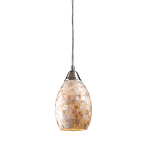 Capri One Light LED Pendant In Satin Nickel