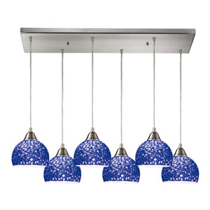 Cira Satin Nickel 9-Inch Six Light Pendant