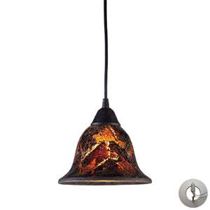 Firestorm One Light Pendant In Dark Rust Includes w/ An Adapter Kit