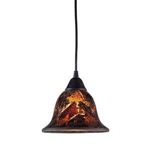 Firestorm One Light LED Pendant In Dark Rust