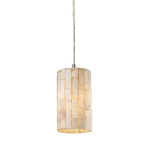 Coletta Satin Nickel One-Light Mini Pendant