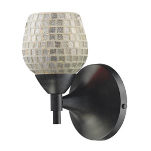 Celina Dark Rust Sconce with Silver Glass