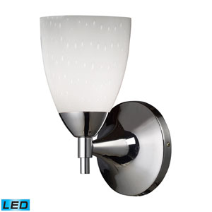 Celina One Light LED Wall Sconce In Polished Chrome And Simple White Glass