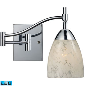 Celina One Light LED Swingarm Wall Sconce In Polished Chrome