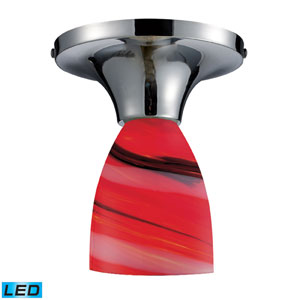 Celina One Light LED Semi-Flush In Polished Chrome And Candy Glass