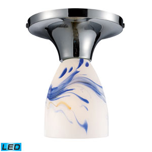 Celina One Light LED Semi-Flush In Polished Chrome And Mountain Glass