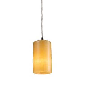 Piedra Satin Nickel One-Light Mini Pendant