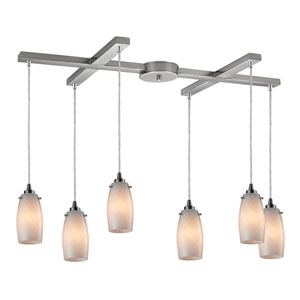 Favelita Satin Nickel 33-Inch Six Light Pendant