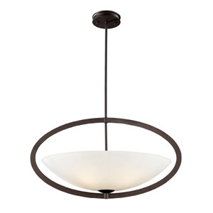 Dione Five-Light pendant in aged bronze