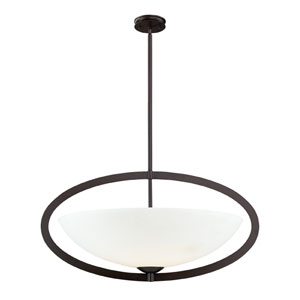 Dione Six-Light Pendant in Aged Bronze