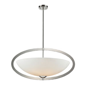 Dione Six-Light Pendant In Polished Nickel