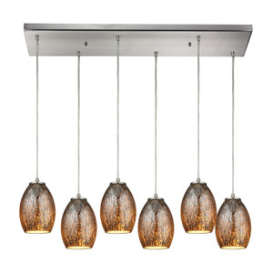 Venture Satin Nickel Six-Light Pendant