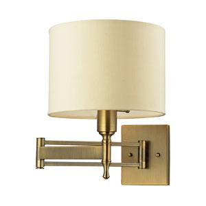 Pembroke One-Light Swing Arm in Antique Brass