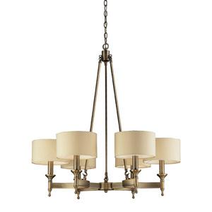 Pembroke Six-Light Chandelier in Antique Brass