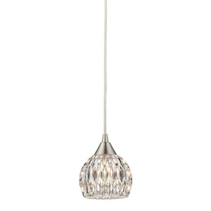 Kersey Satin Nickel 5-Inch One Light Mini Pendant