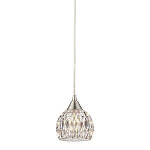 Kersey Satin Nickel 5-Inch One Light Mini Pendant