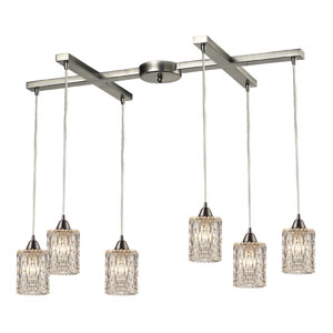 Kersey Satin Nickel Three Light Chandelier