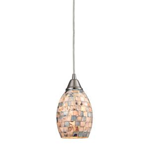 Capri Satin Nickel 5-Inch One-Light Mini Pendant