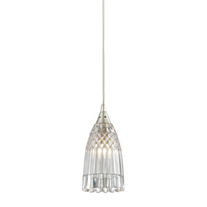 Kersey Satin Nickel One-Light Mini Pendant