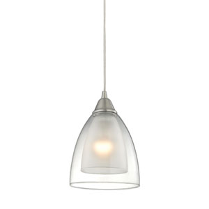 Layers Satin Nickel 6-Inch One-Light Mini Pendant