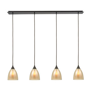 Layers Oil Rubbed Bronze 6-Inch Four-Light Multi-Light Pendant