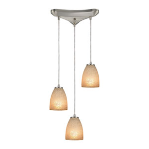 Sandstorm Satin Nickel Three-Light Pendant