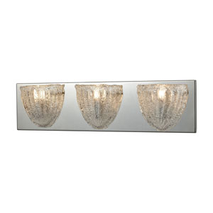 Verannis Polished Chrome Three-Light Vanity