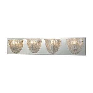 Verannis Polished Chrome Four-Light Vanity