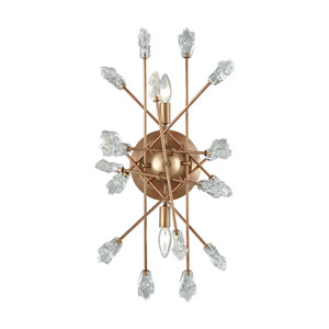 Serendipity Matte Gold Two-Light Wall Sconce