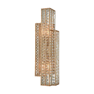 Lexicon Matte Gold 6-Inch Two-Light Wall Sconce