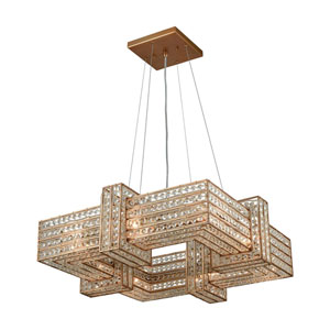 Lexicon Matte Gold 25-Inch Eight-Light Pendant