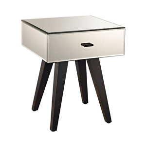 Mirrored One-Drawer Side Table
