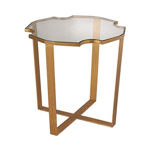 Cutout Top Gold Leaf 16-Inch Table