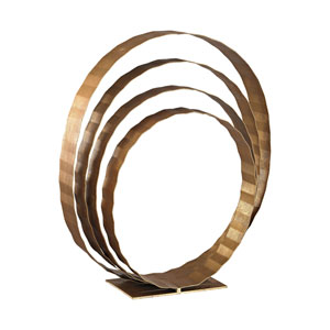 Concentric Rings Gold Leaf Sculpture