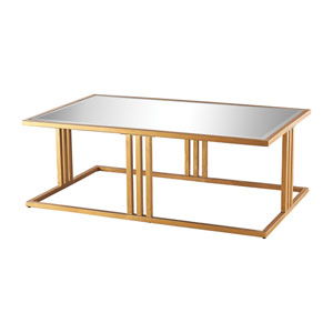 Andy Gold Leaf and Mirrored Table