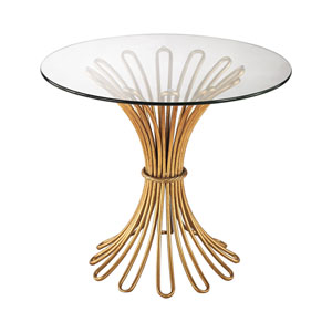 Flaired Rope Gold Leaf 24-Inch Table
