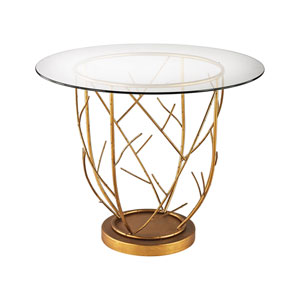 Thicket Gold Leaf 30 X 36 Inch Entry Table