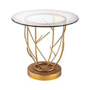 Thicket Gold Leaf 20 x 22-Inch Side Table