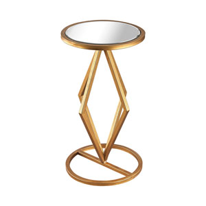 Vanguard Gold Leaf Mirrored Side Table