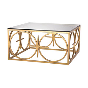 Amal Antique Gold Leaf Coffee Table