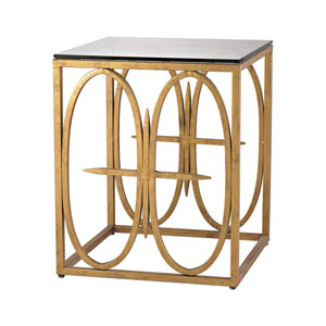 Amal Antique Gold Leaf Side Table