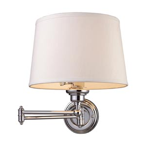 Westbrook Polished Chrome Plug In One-Light Swing-Arm Sconce