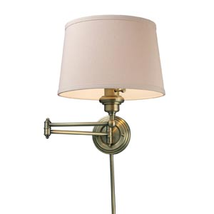Westbrook Antique Brass One-Light Swing-Arm Sconce
