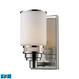 Bryant One Light LED Bath Fixture In Satin Nickel
