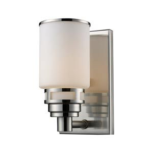 Bryant Satin Nickel One-Light Bath Light