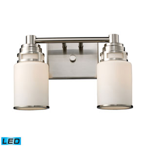 Bryant Two Light LED Bath Fixture In Satin Nickel