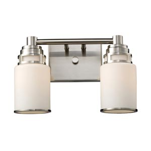 Bryant Satin Nickel Two-Light Bath Light