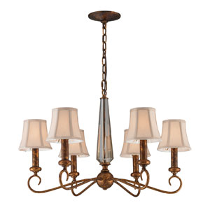 Crestview Six-Light chandelier in Spanish bronze