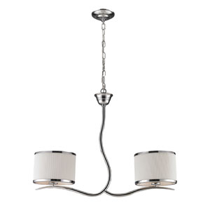 Annika Two-Light Island in Polished Chrome
