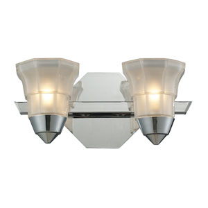 Deco Two Light Bath Fixture In Polished Chrome
